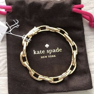 kate spade Jewelry - Kate Spade  Gold Tone Large Link Bangle Bracelet
